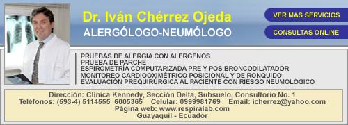 ALERGOLOGO QUITO IVAN CHERREZ